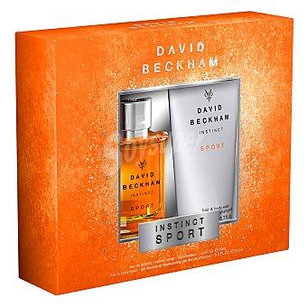 David Beckham Estuche de colonia Instinct Sport spray 30 ml. + gel de ducha y champú 200 ml. 1 ud