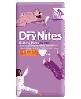 DryNites Pañal niña 4-7 años 16 UNI