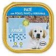 Comida perro pate pollo, pavo y verduras junior razas medianas y grandes Tarrina 300 g Bobby