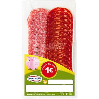 Montesano Chorizo + salchichón Sobre 100 g