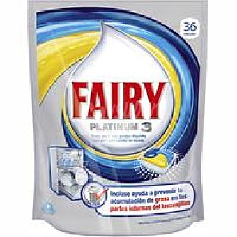 FAIRY Platinum 3 Lavavajillas máquina limón Bolsa 36 dosis