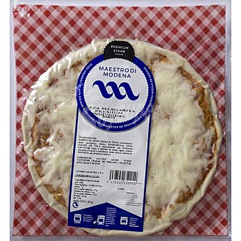 Maestro Margarita Premium individual pizza de mozzarella y tomate modena Envase 250 g