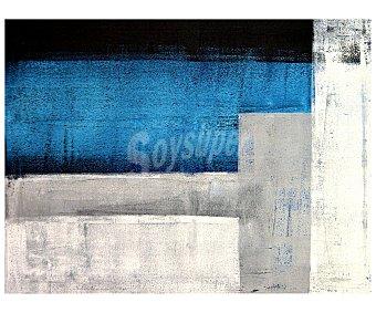 IMAGINE Cuadro con un dibujo abstracto en tonos azules, grises y negros y dimensiones de 60x80 centímetros 1 unidad