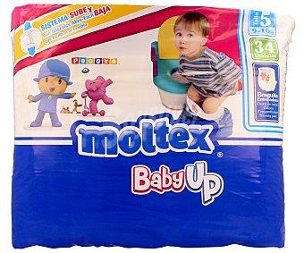 Moltex Baby Up pañales de 9 a 16 kg talla 5  Bolsa 34 uds