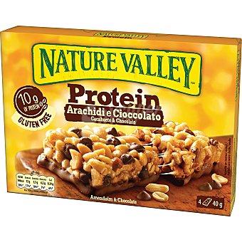 Nature Valley Barrita de cereales proteica con cacahuete y chocolate caja 160 gr Caja 160 gr