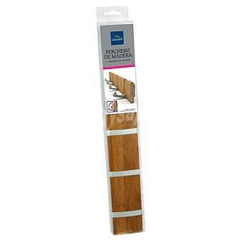 CASACTUAL Perchero de madera con 4 colgadores