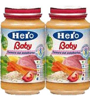 Hero Baby Tarritos de ternera y zanahoria Pack de 2x250 g