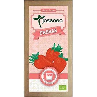 Josenea Chocolate blanco con fresas Bio  Tableta de 100 g