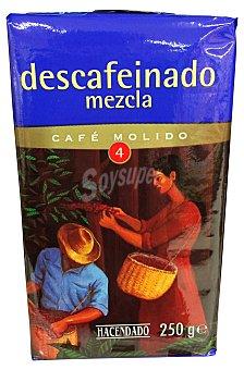Hacendado Cafe molido descafeinado mezcla Nº 4 Paquete 250 g