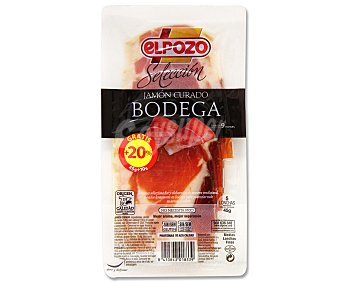 ElPozo Jamón curado de bodega en lonchas Paquete de 45 gramos