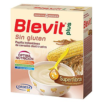 BLEMIT Plus Papilla superfibra con cereales integrales , desde los 4 meses blevit Plus 600 Gramos
