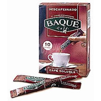 Baqué Café soluble descafeinado Caja de 10 sobres