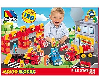 Molto Playset Estación de bomberos con camiones y 120 bloques de construcción MOLTÓ  1 unidad