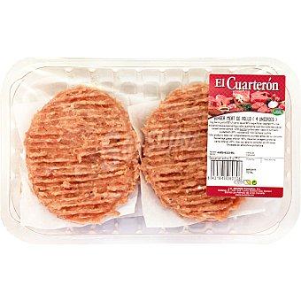 EL CUARTERON Burger Meat de pollo bandeja 360 g 4 unidades