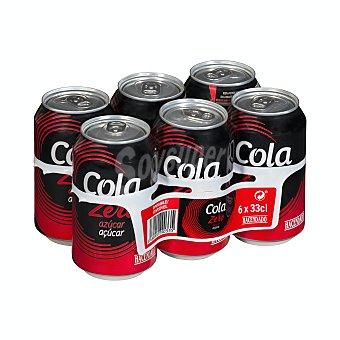 Hacendado Cola zero Lata pack 6 x 330 ml - 1980 ml