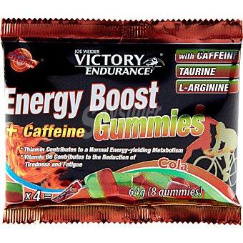 VICTORY ENDURANCE Caramelos de goma con Cafeína Taurina y L Arginina sabor cola  8 unidades