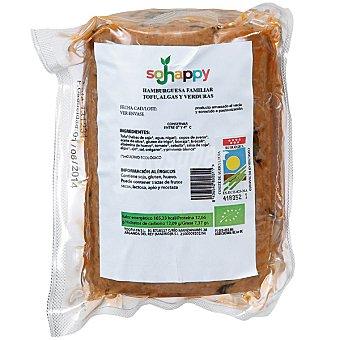 SOJHAPPY Hamburguesa familiar de tofu con algas y verduras en rollo envase 750 g Envase 750 g
