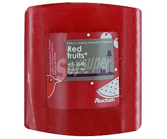 AUCHAN Vela cilíndrica perfumada de 80x80 milímetros y con olor a frutos rojos 1 Unidad