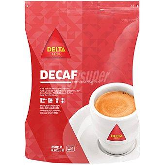 Delta Cafés Café descafeinado molido de tueste natural Bolsa 250 g