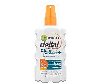 Delial Garnier Protector solar en spray con factor de protección 30 (alto) Clear protect+ 200 ml