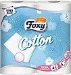 Papel higiénico foxy 4 rollos Cotton
