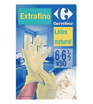 Carrefour Guantes finos latex talla 8 50 unidades