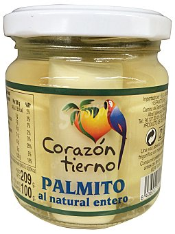 CORAZON TIERNO PALMITOS AL NATURAL CONSERVA TARRO 100 g ESCURRIDO