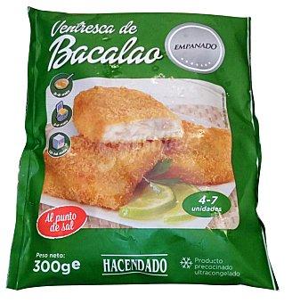 HACENDADO Bacalao congelado ventrescas empanadas PAQUETE 300 g