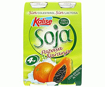 Kalise Yogur de Soja Naranja-Papaya 4x125g