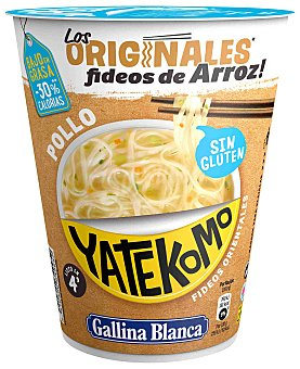 Gallina Blanca Noodles de arroz orientales sin gluten yatekomo Vaso 53 g