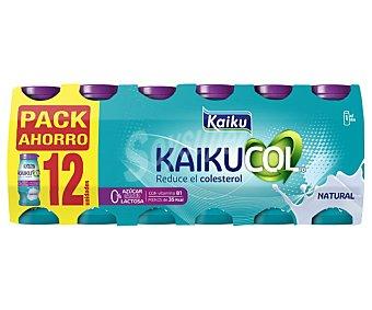 Kaikucol Yogur líquido que ayuda a reducir el colesterol, con sabor natural zero 12 x 65 g