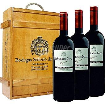Señorio de Nava Vino tinto reserva D.O. Ribera del Duero estuche de madera 3 botellas 75 cl