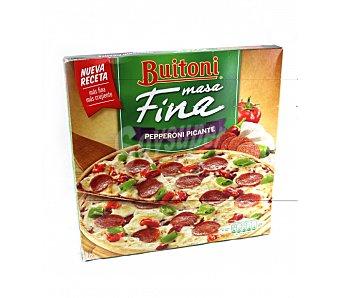 Buitoni Pizza de pepperoni picante Masa Fina Estuche 320 g