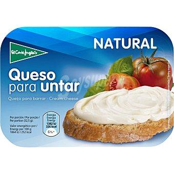 EL CORTE INGLES Crema de queso natural envase 200 g