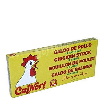 Calnort Caldo de pollo 12 unidades