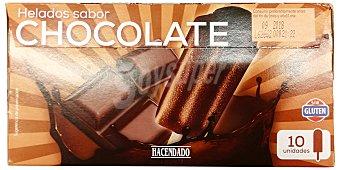 Hacendado Helado palo hielo chocolate Caja 10 u