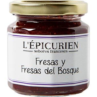 L'epicurien mermelada de fresas y fresas del bosque creación artesanal tarro 125 g