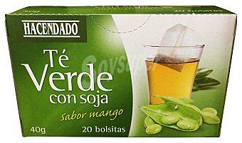 Hacendado Infusión té verde con soja sabor mango 20 bolsitas - 40 g