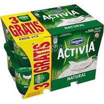 Danone Activia natural Pack 12x125 g