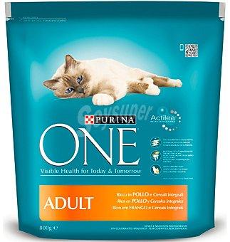 One Purina Comida para gato con pollo y arroz 800 g