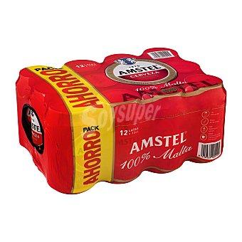 Amstel Cerveza rubia malta Pack de 12 latas de 37.5 cl