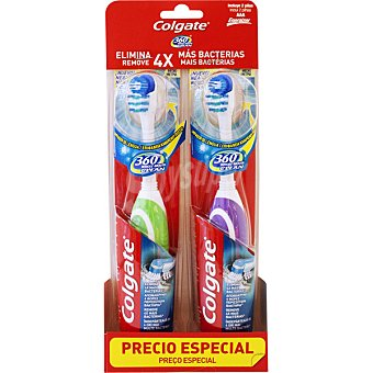 Colgate Cepillo dental eléctrico 360º Whole Mouth Clean Envase 2 unidades