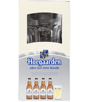 Hoegaarden Cerveza Pack de 4 botellas de 33 cl