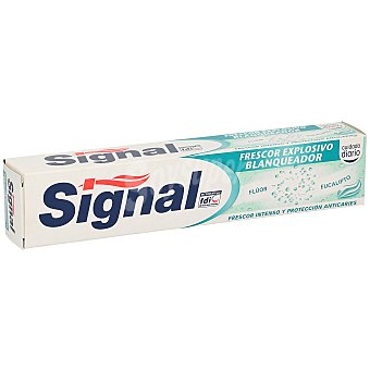 Signal Pasta de dientes con acción blanqueante y frescor intenso frescor explosivo 75 ml