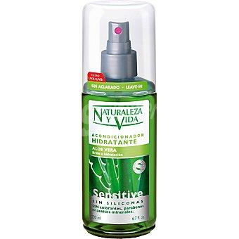 Naturaleza y Vida Acondicionador hidratante aloe vera Sensitive sin aclarado dosificador 200 ml