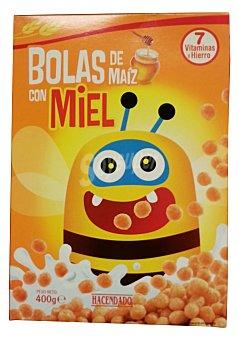 Hacendado Cereal bolas maiz miel Bolsa 400 g