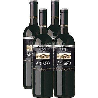 Antaño Vino tinto crianza D.O. Rioja caja 4 botellas 75 cl