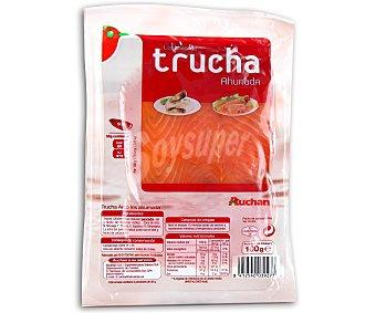 Auchan Trucha ahumada en lonchas 100 gramos