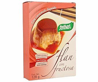 Santiveri Preparado deshidratado para hacer flan con fructosa y caramelo líquido 128 gramos