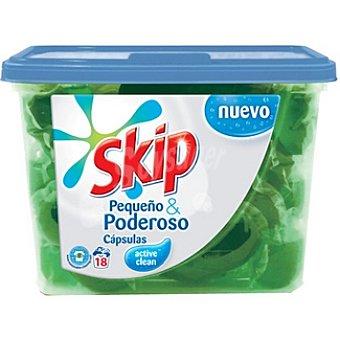 Skip Detergente máquina líquido active Clean Envase 18 capsulas
